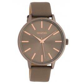 Oozoo C10612 Women's Watch with Leather Strap Quartz Taupe 42 mm