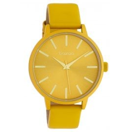Oozoo C10613 Quartz Ladies' Watch with Leather Strap Yellow 42 mm