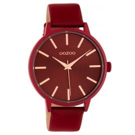 Oozoo C10618 Ladies' Watch with Leather Strap Red Quartz 42 mm