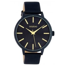 Oozoo C10619 Women's Watch with Leather Strap Dark Blue 42 mm