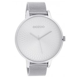 Oozoo C10550 XL Ladies' Watch with Stainless Steel Bracelet silver 48 mm