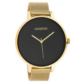Oozoo C10553 XL Women's Watch Stainless Steel Bracelet gold / black 48 mm