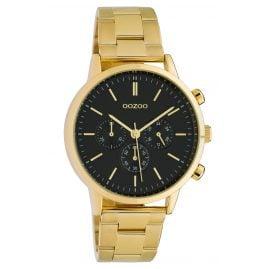 Oozoo C10563 Damen-Armbanduhr im Chrono-Look gold / schwarz 38 mm