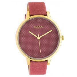 Oozoo C10591 Ladies' Watch with Leather Strap 42 mm old pink / gold