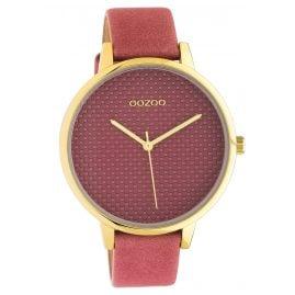 Oozoo C10591 Damenuhr mit Lederband 42 mm altrosa / gold