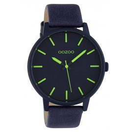Oozoo C10382 Watch with Leather Strap Blue / Green 45 mm