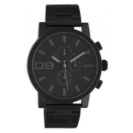 Oozoo C10709 Herrenuhr im Chrono-Look Schwarz 45 mm