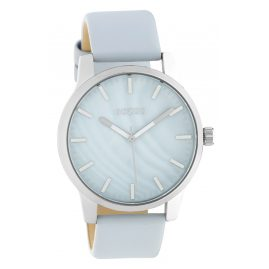 Oozoo C10726 Women's Watch with Leather Strap Light Blue/Silver Tone 42 mm