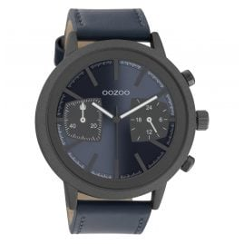 Oozoo C10807 Herrenuhr Dunkelblau/Dunkelgrau 50 mm