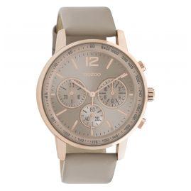 Oozoo C10811 Armbanduhr mit Lederband Ø 42 mm Taupe