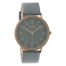 Oozoo C10823 Ladies' Watch with Leather Strap Watergrey 40 mm