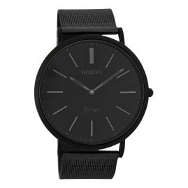 Oozoo C7384 Vintage Gents Watch Black 44 mm