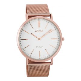 Oozoo C7390 Vintage Watch White/Rosegold 40 mm