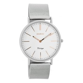 Oozoo C7396 Vintage Ladies Watch White/Silver 36 mm