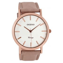 Oozoo C8118 Vintage Mens Watch Powder Pink 45 mm