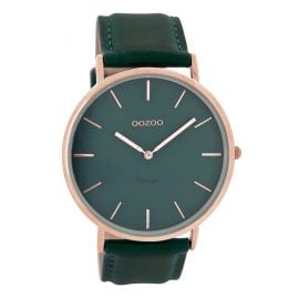 Oozoo C8133 Vintage Watch with Leather Strap Teal 44 mm