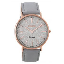 Oozoo C8192 Ladies Watch Vintage Light Grey/Rose 40 mm