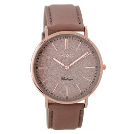 Oozoo C8194 Ladies Watch Vintage Pinkgrey/Rose 40 mm