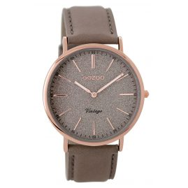 Oozoo C8195 Ladies Watch Vintage Taupe/Rose 40 mm