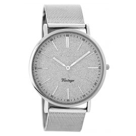 Oozoo C8199 Ladies Watch Vintage Silver Tone 40 mm