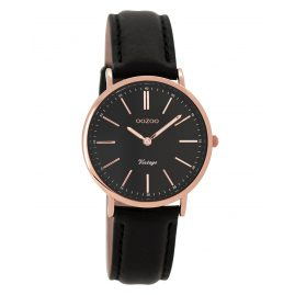 Oozoo C8824 Ladies Wrist Watch Vintage Black 32 mm