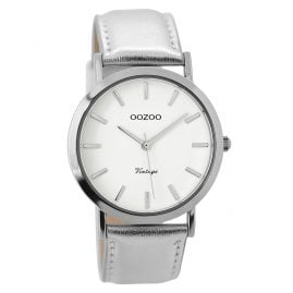 Oozoo C7782 Ladies Watch Vintage Silver Tone 38 mm