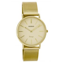 Oozoo C8876 Vintage Ladies Watch Gold Tone 32 mm