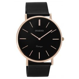 Oozoo C8869 Unisex Watch Vintage Black/Rose 40 mm