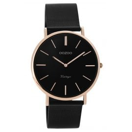 Oozoo C8870 Ladies Watch Vintage Black/Rose 36 mm