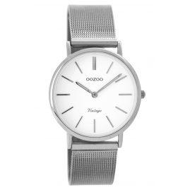Oozoo C8872 Damenuhr Vintage Silber/Weiß 32 mm