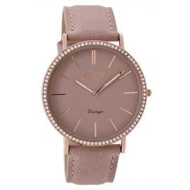 Oozoo C8886 Damen-Armbanduhr Vintage Altrosa 40 mm