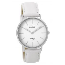 Oozoo C9312 Ladies Watch Vintage White/Silver 36 mm