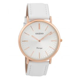 Oozoo C9331 Ladies' Wristwatch Vintage Rose/White/Silver-Coloured 40 mm