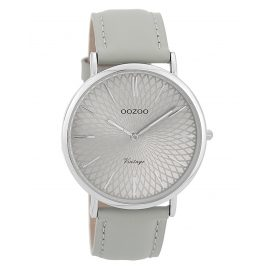 Oozoo C9333 Ladies' Watch Vintage Silver-Coloured/Grey 40 mm