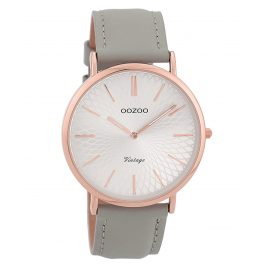 Oozoo C9334 Damen-Uhr Vintage Rosé/Grau/Silberfarben 40 mm