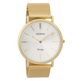 Oozoo C9346 Damen-Armbanduhr Vintage Goldfarben/Silberfarben 40 mm