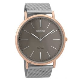 Oozoo C9356 Wristwatch Vintage Rose/Silver-Coloured/Grey 44 mm