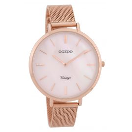 Oozoo C9391 Ladies' Watch Vintage Pearl/Rose 40 mm with Mesh Bracelet