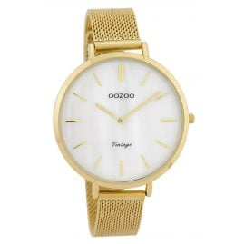 Oozoo C9392 Ladies' Watch Vintage Mother-of-Pearl Tone/White 40 mm with Mesh