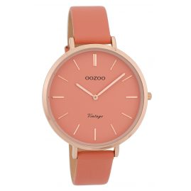 Oozoo C9806 Ladies' Watch Vintage Pink 40 mm with Leather Strap