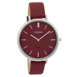Oozoo C9807 Ladies' Watch Vintage Wine-Red 40 mm with Leather Strap