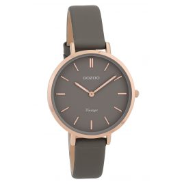 Oozoo C9816 Ladies' Watch Vintage Dark-Grey 34 mm with Leather Strap