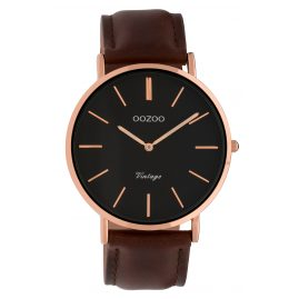 Oozoo C9834 Ladies' Watch Vintage Black/Dark Brown 40 mm