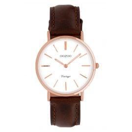 Oozoo C9837 Ladies' Watch Vintage White/Dark Brown 32 mm