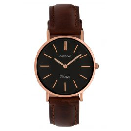 Oozoo C9839 Ladies' Watch Vintage Black/Dark Brown 32 mm