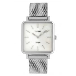 Oozoo C9840 Ladies' Watch Vintage MOP White/Mesh Band 28 mm
