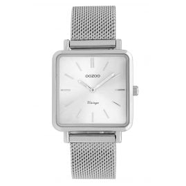 Oozoo C9841 Ladies' Watch Vintage Silver-Tone/Mesh Band 28 mm