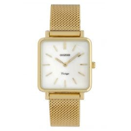 Oozoo C9843 Ladies' Watch Vintage MOP White/Mesh Band 28 mm
