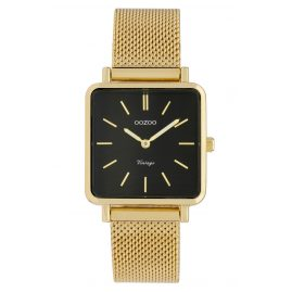 Oozoo C9845 Ladies' Watch Vintage Black/Mesh Band 28 mm