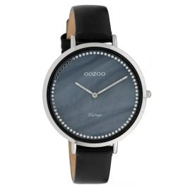 Oozoo C9853 Ladies' Watch Vintage MOP Blue/Black 40 mm